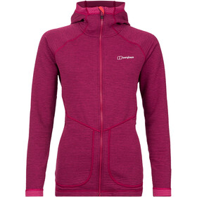 Berghaus Redonda Hooded Fleece Jacket Damen sangria/poinsettia